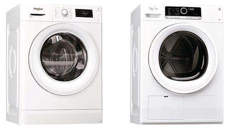 Set (Automatická pračka Whirlpool FWG81284W EU) + (Sušička prádla Whirlpool HSCX 80410) + DOPRAVA ZDARMA
