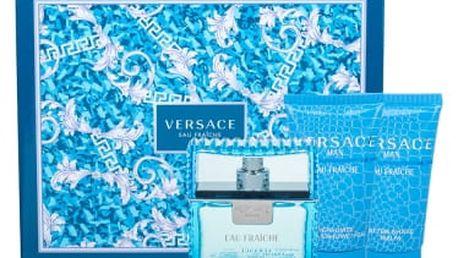Versace Man Eau Fraiche dárková kazeta pro muže toaletní voda 50 ml + sprchový gel 50 ml + balzám po holení 50 ml
