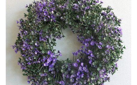 Umělý věnec Buxus, fialová