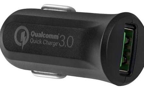Adaptér do auta Avacom CarMAX, 1x USB (3A), s funkcí rychlonabíjení QC 3.0 (NACL-QC1X-KK) černá