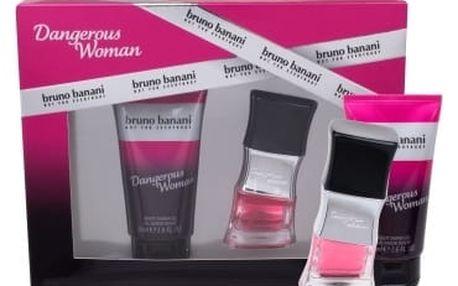 Bruno Banani Dangerous Woman dárková kazeta pro ženy toaletní voda 20 ml + sprchový gel 50 ml
