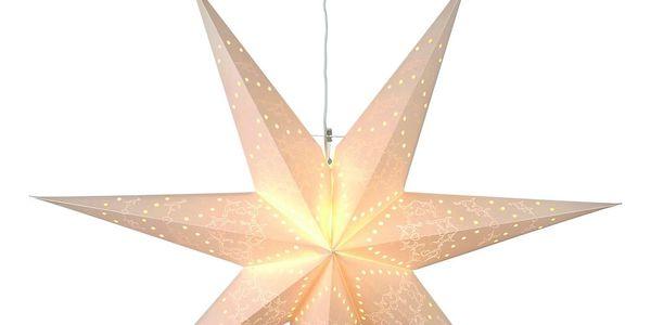 STAR TRADING Závěsná papírová hvězda Sensy 70 cm, krémová barva, papír