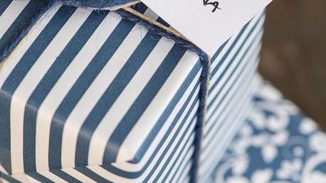 IB LAURSEN Balicí papír Dark Blue Wide - 10m, modrá barva, papír
