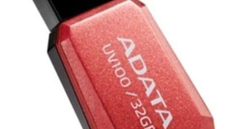 USB Flash ADATA UV100 32GB (AUV100-32G-RRD) červený USB 2.0