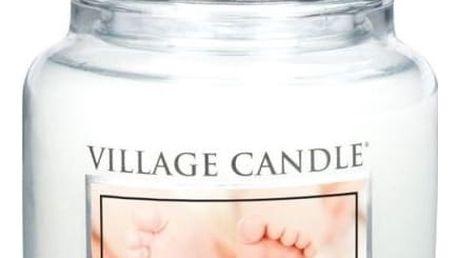VILLAGE CANDLE Svíčka ve skle Powder Fresh - střední, bílá barva, sklo