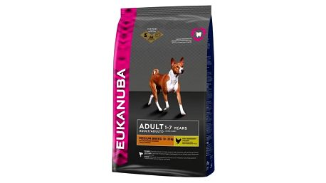 Granule Eukanuba Adult Medium Breed 15 kg + Doprava zdarma