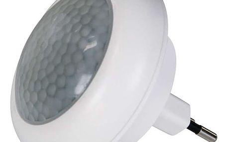 Noční světlo EMOS do zásuvky, 8 x LED s PIR čidlem (1456000040) bílé