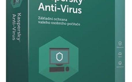 Software Kaspersky Anti-Virus 2017 / 1 zařízení na 1 rok + 3 měsíce navíc zdarma (KL1171OBABS-CZ)