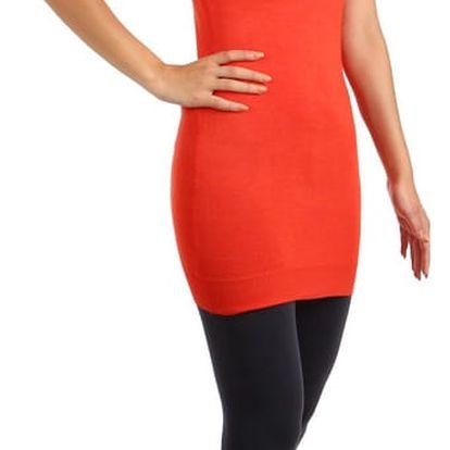 Dlouhý svetr s mašlemi na zádech oranžová