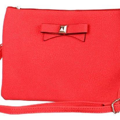 Větší psaníčko/malá kabelka s mašlí červená