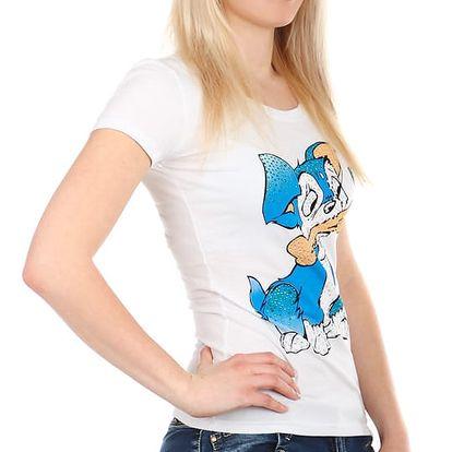 Příjemné tričko s roztomilým obrázkem bílá