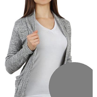 Stylový cardigan s dlouhým rukávem šedá