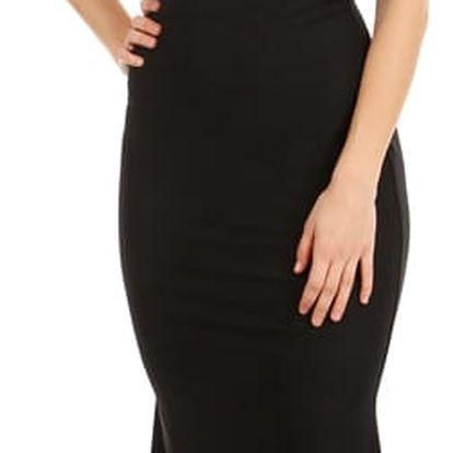 Dlouhé šaty s odhalenými zády černá