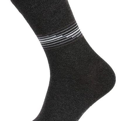 Pánské ponožky s proužkou modrá