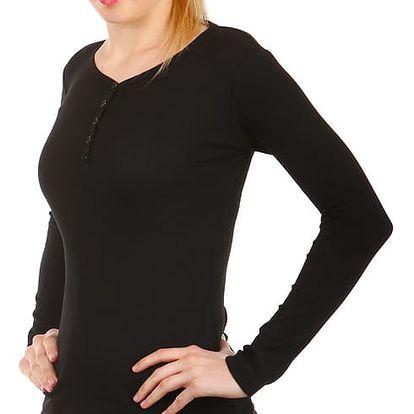 Jednoduché tričko s dlouhým rukávem černá