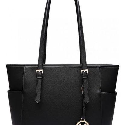 Dámská černá kabelka Donna 1642