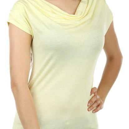 Dámské elegantní tričko světle žlutá