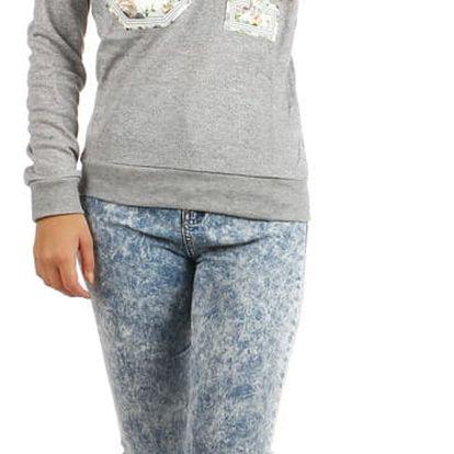 Dámská mikina/tričko s potiskem šedá