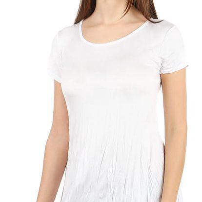 Pohodlné tričko s krátkým rukávem bílá