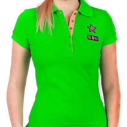 Krásné tričko s límečkem zelená