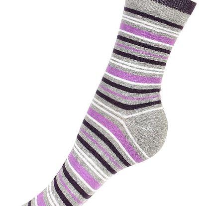 Proužkované ponožky fialová