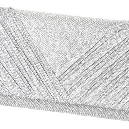 Luxusní třpytivé psaníčko stříbrná