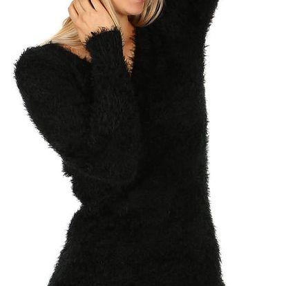 Pletená čepice s bambulí bílá