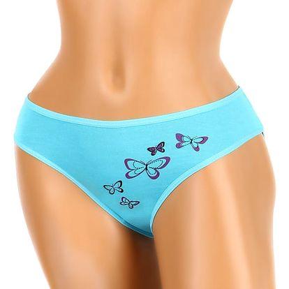Bambusové kalhotky s potiskem motýlů modrá