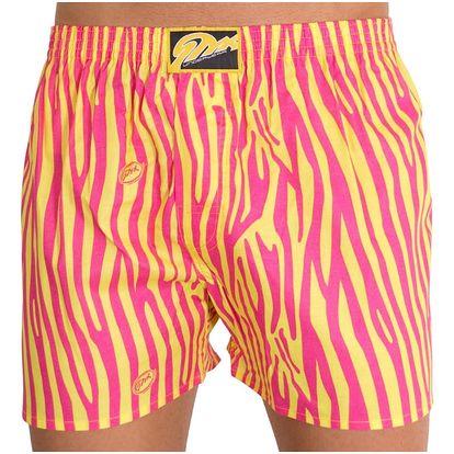 Pánské trenýrky Styx classic art žluto růžová zebra L