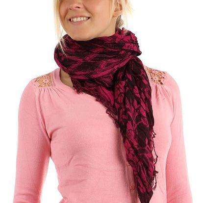 Šátek s kostkovaným vzorem žlutá