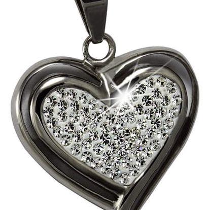 Dokonalý přívěsek - srdce s kamínky