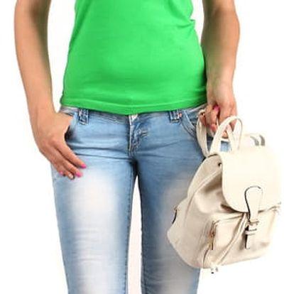 Dámské jednoduché tričko s krajkou tmavě zelená