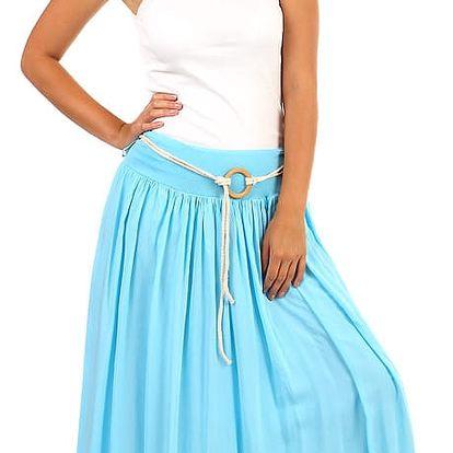Romantická letní maxi sukně světle modrá