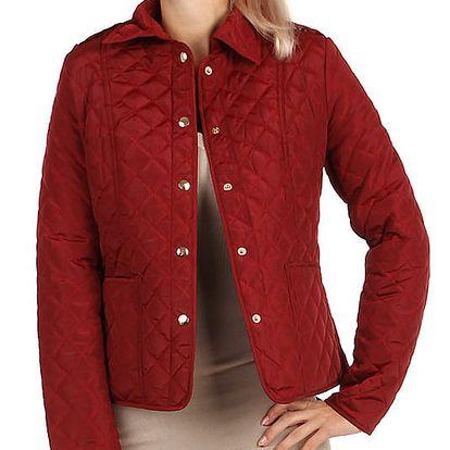 Lehká prošívaná bunda s límečkem béžová