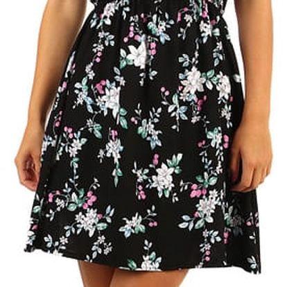 Krátké letní vzorované šaty černá