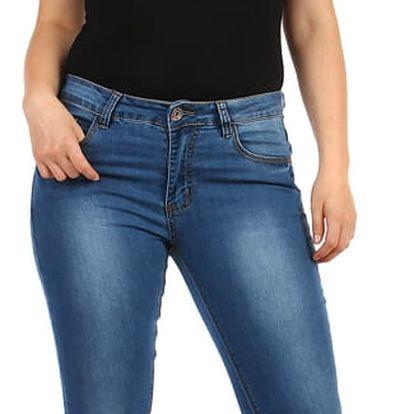 Rovné džíny s vyšisovaným efektem - i pro plnoštíhlé