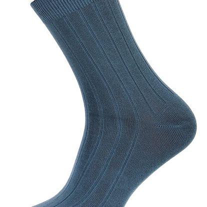 Pánské ponožky s pruhy tmavě modrá