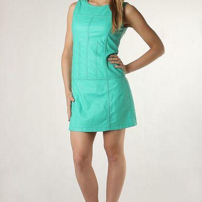 Dámské koženkové šaty zelená