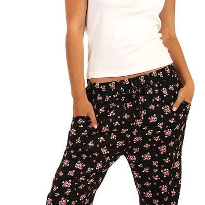 Pohodlné dámské kalhoty pro volný čas černá