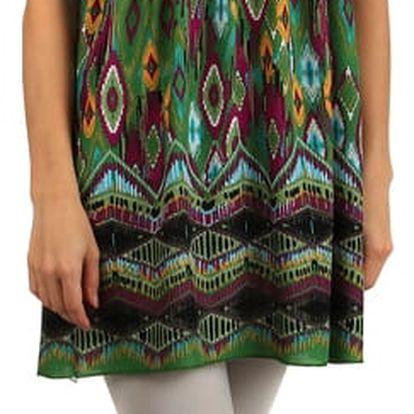 Orientální šaty z bavlny na úzká ramínka oranžová