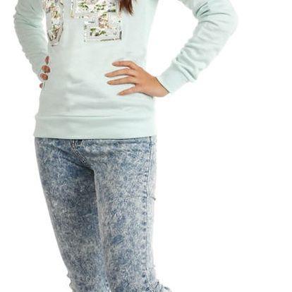 Dámská mikina/tričko s potiskem světle modrá