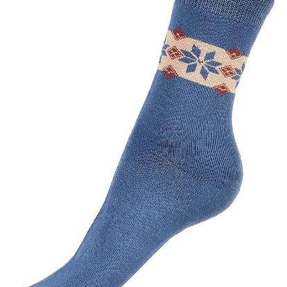 Thermo ponožky se vzorem tmavě šedá