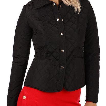 Lehká prošívaná bunda s límečkem černá