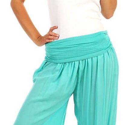 Harémové kalhoty zelená