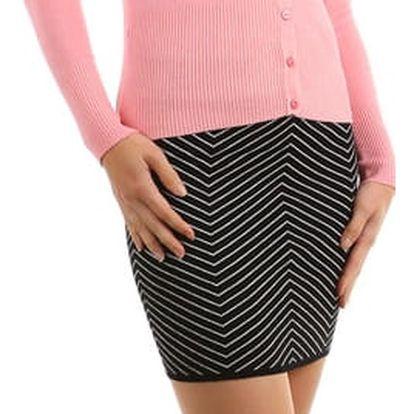 Úpletová sukně se zeštíhlujícím efektem