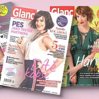 Roční předplatné lifestylového časopisu Glanc