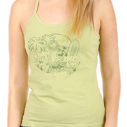 Elegantní dámské tílko s potiskem zelená