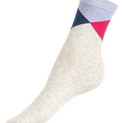 Veselé dámské ponožky šedá