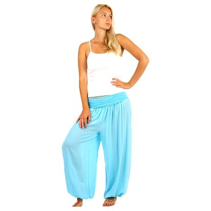 Dámské harémové kalhoty světle modrá
