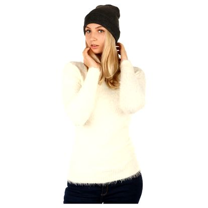 Jednoduchá pletená čepice tmavě šedá